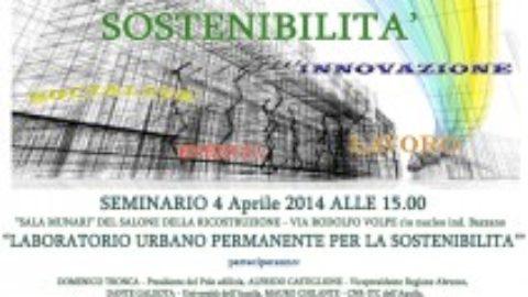 """A L'Aquila il """"Laboratorio urbano permanente per la sostenibilità"""""""