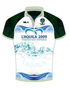 Quinta maglia dell'Aquila Rugby, stagione 2014-15, sponsorizzata da L'Aquila 2009