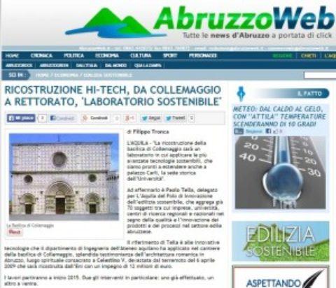 """Ricostruzione HI-TECH, da Collemaggio a rettorato, """"laboratorio sostenibile"""""""