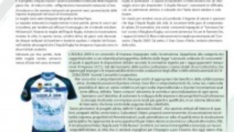 """L'Aquila2009 su """"Punto neroverde"""" la pubblicazione dedicata ai tifosi di rugby"""