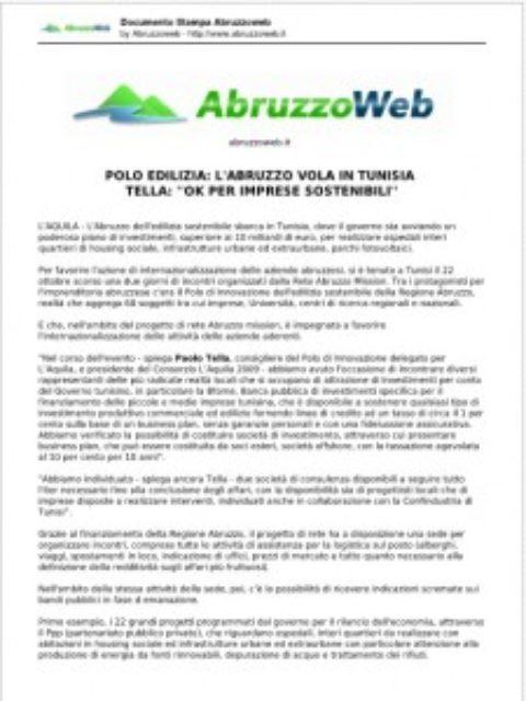 L'Aquila 2009 è tra i 22 progetti promossi dalla Tunisia