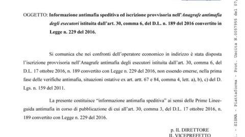 Antimafia del Consorzio L'Aquila 2009