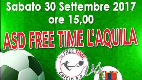 "L'Aquila 2009 sponsor di ""ASD Free Time"""