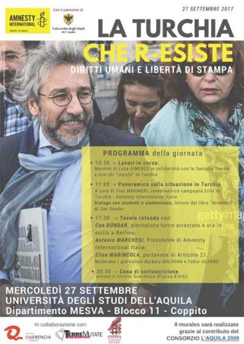 """L'Aquila 2009 Sponsor di """"La Turchia che R-Esiste"""""""