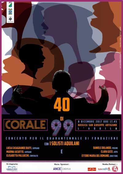 Locandina concerto corale 99